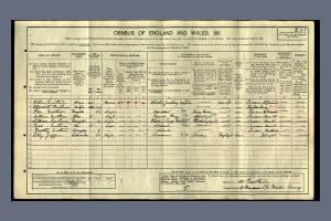 1911 Census - 9 Meadow Road, Merton