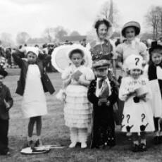 1951 Ted Warren at the Carnival Fancy Dress Parade on the Green  Houghton Regis