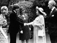 Councillors greet Her Majesty the Queen Mother