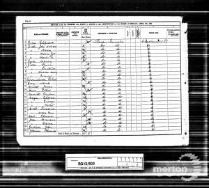 1891 Census  - Holborn Industrial School