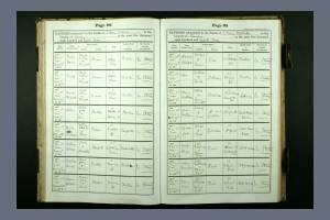 Baptism record H Cox