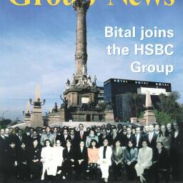 Front page from 'Group News' in January 2003 announcing the acquisition of Financiero Bital, S.A. de C.V. of México