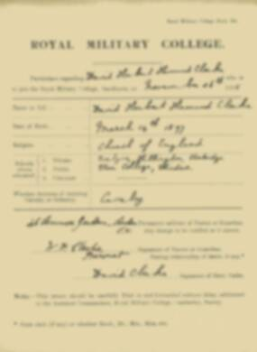 RMC Form 18A Personal Detail Sheets Nov 1915 Intake - page 14