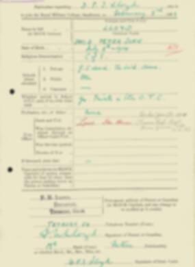 RMC Form 18A Personal Detail Sheets Feb & Sept 1933 Intake - page 86