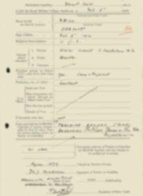 RMC Form 18A Personal Detail Sheets Feb & Sept 1933 Intake - page 99