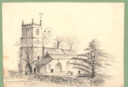 Sampford Peverell Church, c1880, Devon