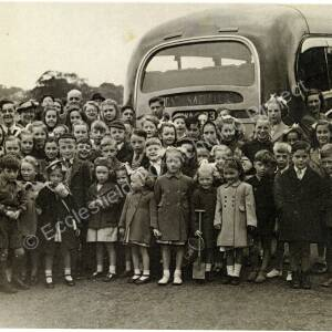 Burncross Methodist Chapel Outing in the late 1940s.