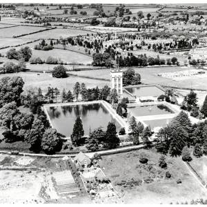 Broomy Hill Water Works, aerial view, 1932