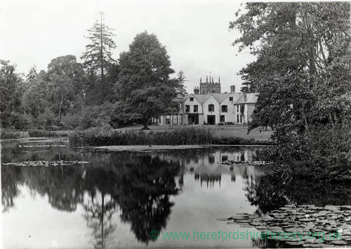 Whitbourne Court and Church, 1925