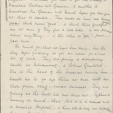 Elsie Inglis to Amy Inglis Simson, May 1915 (Part 4)