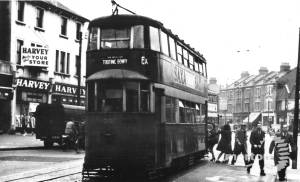 'Extra' tram car, Mitcham Road, Tooting