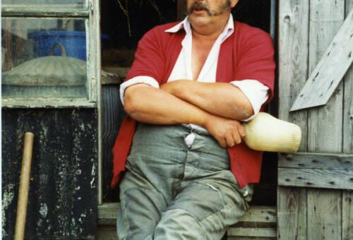 012 Peter Exley, allotment-holder of Upper Denby