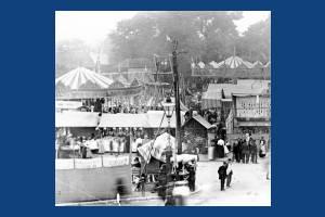 Mitcham Fairground and the village pump