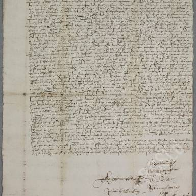 Indenture between James Borthwick, deacon and burgess and Patrick Cunynghame, with William Blair as cautioner