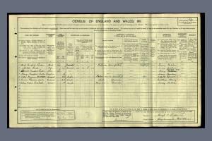 1911 census - Hazelwood House, central Road, Morden