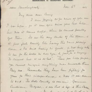 Elsie Inglis to Amy Inglis Simson, Nov 1915 (Part 1)