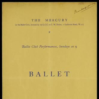 Mercury Theatre, London, March–June 1935