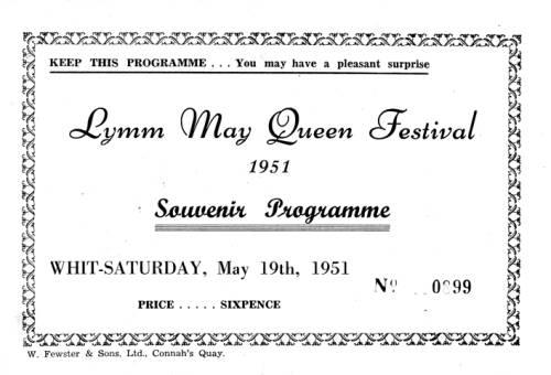 1951, Lymm May Queen Festival
