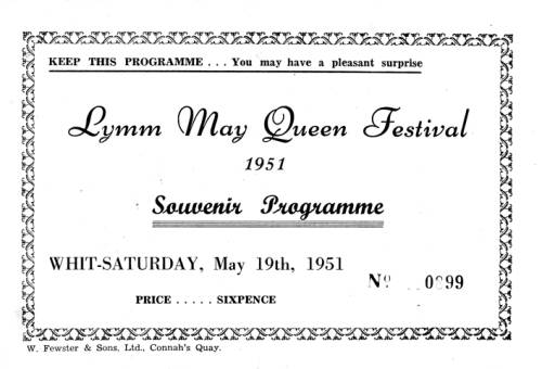 1951, Lymm May Queen Festival
