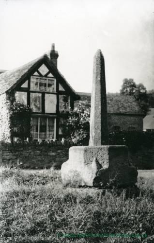 Bodenham, restored market cross, 1902