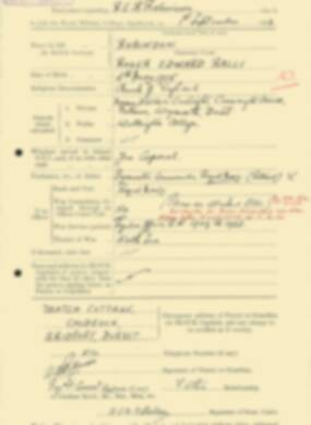 RMC Form 18A Personal Detail Sheets Feb & Sept 1933 Intake - page 273