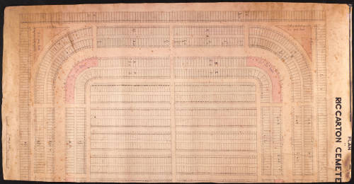 Riccarton Cemetery - Plan of Section A (left side only)