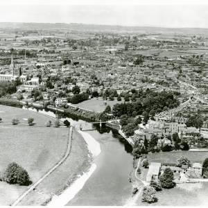Victoria Bridge, Hereford, aerial view, 1933