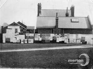 """Parish Council Election:Posters on wall at the back  of """" Cricketers"""""""
