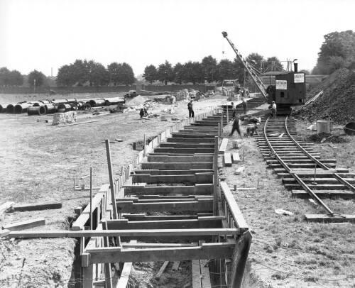 Open cut excavation. Looking towards Hanwell Asylum