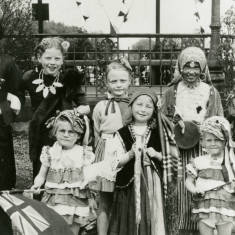 Children dressing up for Victory Parade