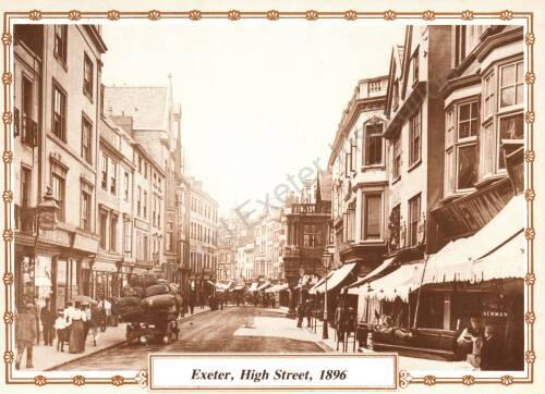 Exeter High Street, 1896, Exeter