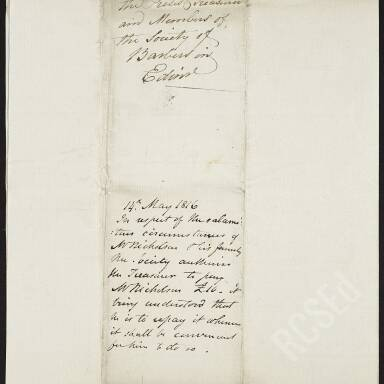 Henry Jack requesting assistance during his apprenticeship, since his father's illness and death have left him indigent (Part 1)