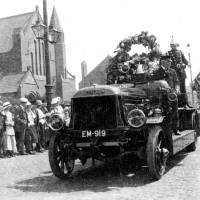 Fire Brigade in May Day Bootle Parade, 1918