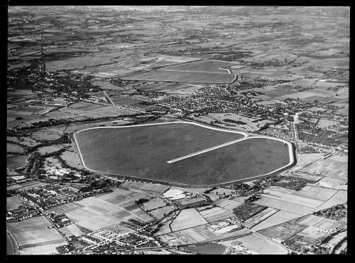 Aerial view of Queen Mary reservoir