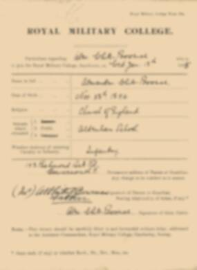 RMC Form 18A Personal Detail Sheets Jan 1915 Intake - page 373