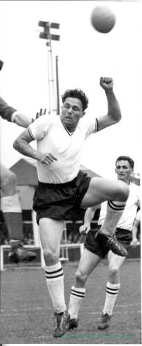Bill Perry in action for Hereford United, 1950s.