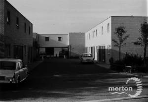 Portland Road, Mitcham: New Houses, built c.1968 opposite the Gasworks,