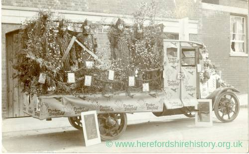 "1926 Ross Hospital Carnival: ""Ross Gazette"" Shop float, July 8 1926"