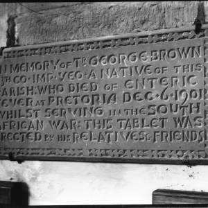 G36-073-13 Memorial tablet to Trooper George Brown, All Saints Church, Brockhampton .jpg