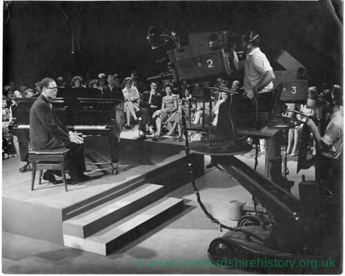 251 - Televison studio, Tom Lehrer being filmed