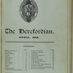 The Herefordian No 69_April 1912