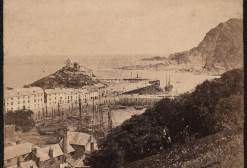 Ilfracombe Harbour from Coronation Terrace, c1900, Ilfracombe