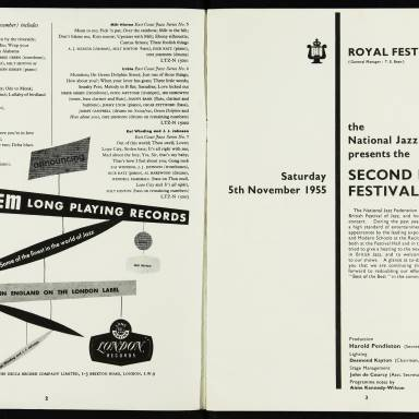 National Jazz Federation Royal Festival Hall - 1955 002