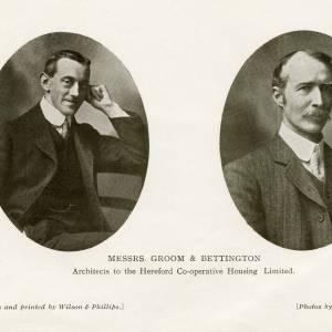 Architects - Mr Groom and Mr Bettington