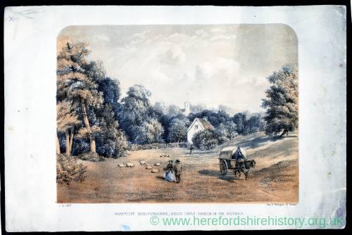 Hoarwithy with Kings Caple Church, 1875