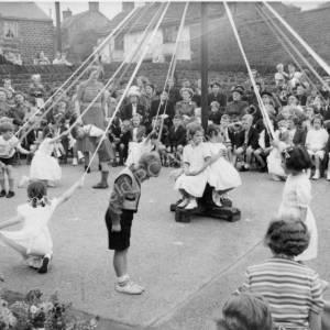 Maypole Dancing Grenoside Junior School 1950's 02.