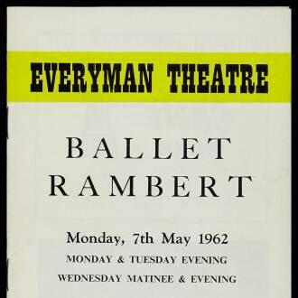 Everyman Theatre, Cheltenham, May 1962