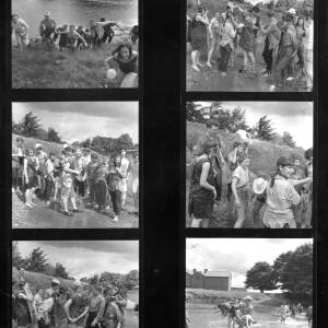Contact sheet - Hereford College of Art students having fun in the River Wye.