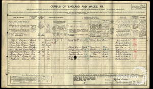 1911 Census - 32 Alexandra Road, Wimbledon
