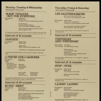 Crucible Theatre, Sheffield, June 1973